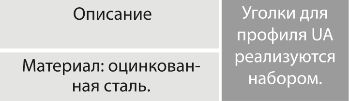 04-11 Уголок для профиля UA